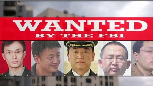 Imagen 4: Poster de los sospechosos chinos, miembros de APT1,más buscados del FBI