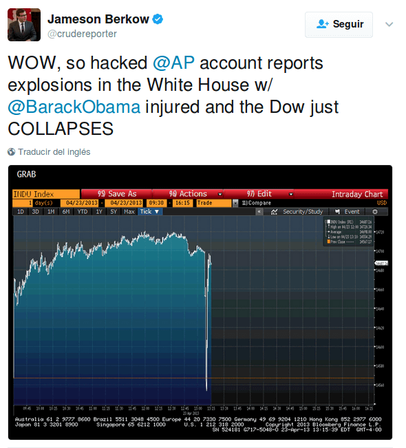 Social engineering White House tweet