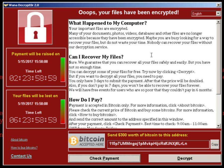 Este es el mensaje que aparecía en la pantalla del usuario cuando su equipo había sido infectado por el ransomware.