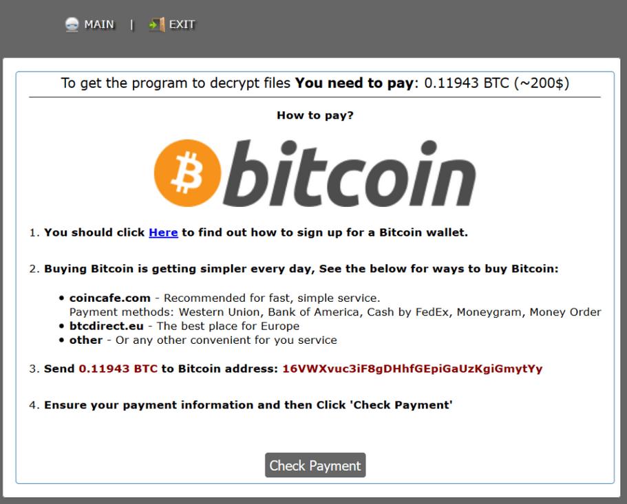 Los ciberdelincuentes dan instrucciones a sus víctimas para pagar el rescate en bitcoins.