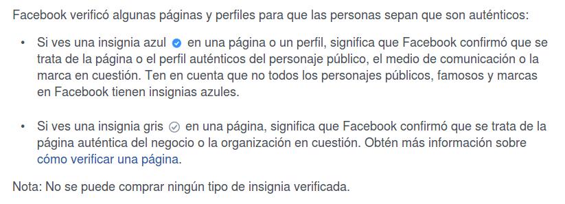Verificación en Facebook