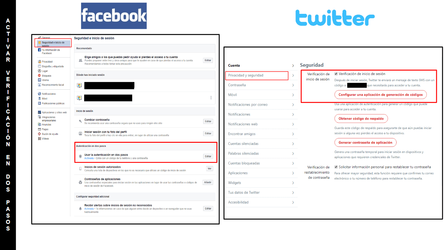 Double Factor Authentication in Facebook & Twitter